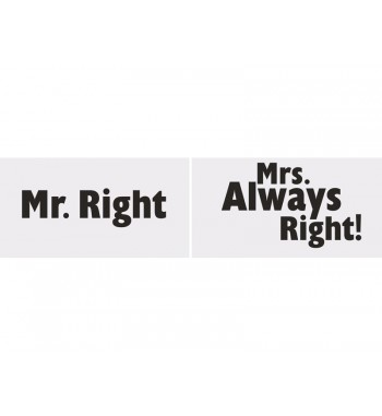 Tabliczki Mr. Right/Mrs....