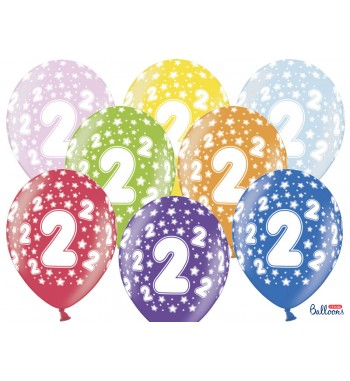 Balony 30cm, 2nd Birthday,...