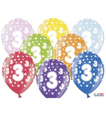 Balony 30cm, 3rd Birthday,...
