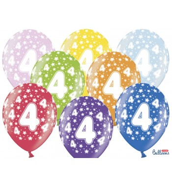 Balony 30cm, 4th Birthday,...