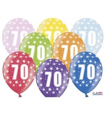 Balony 30cm, 70th Birthday,...