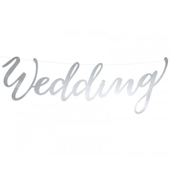 Baner Wedding, srebrny,...