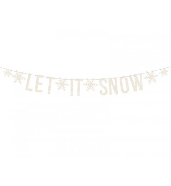 Baner Let it snow, biały,...