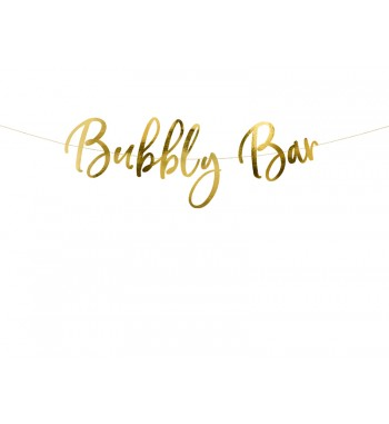 Baner Bubbly Bar, złoty,...